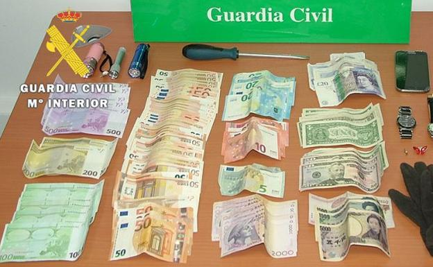 Material recuperado por la Guardia Civil