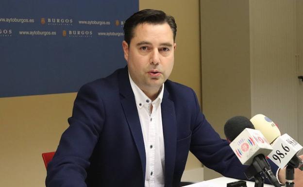 El portavoz del PSOE en el Ayuntamiento de Burgos, Daniel de la Rosa./CC