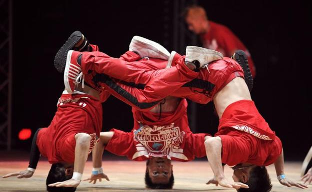 Competición internacional de 'breakdance'. /Afp