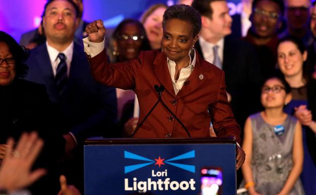 La nueva alcaldesa de Chicago, Lori Lightfoot./Reuters