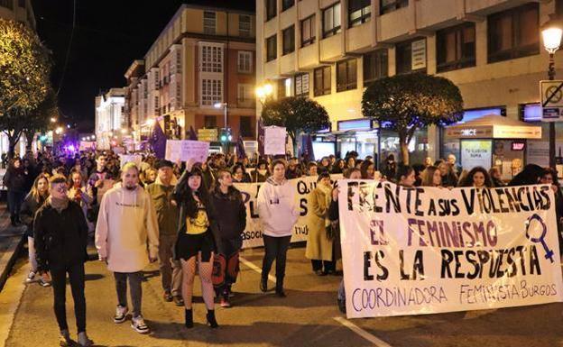 Manifestación del 25N de 2018 en Burgos./PCR